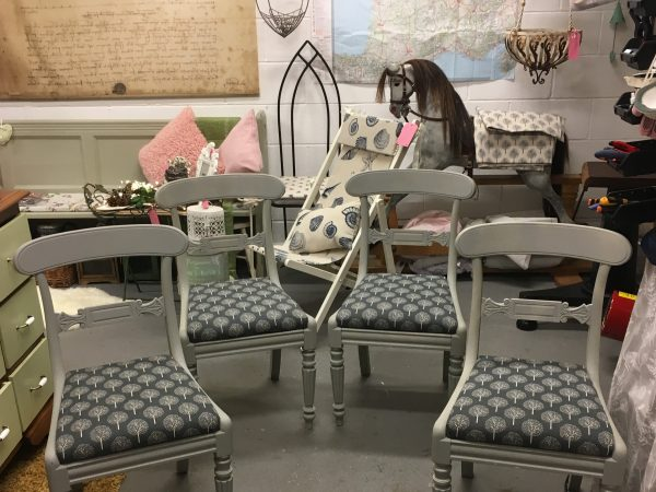 Regency style barback chairs……