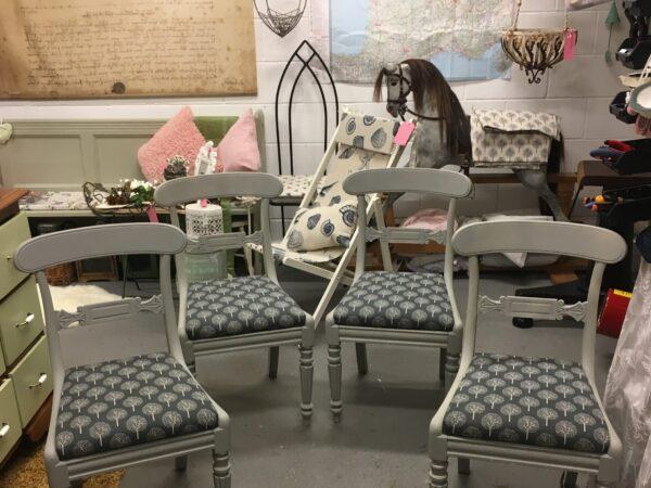 Regency style barback chairs……