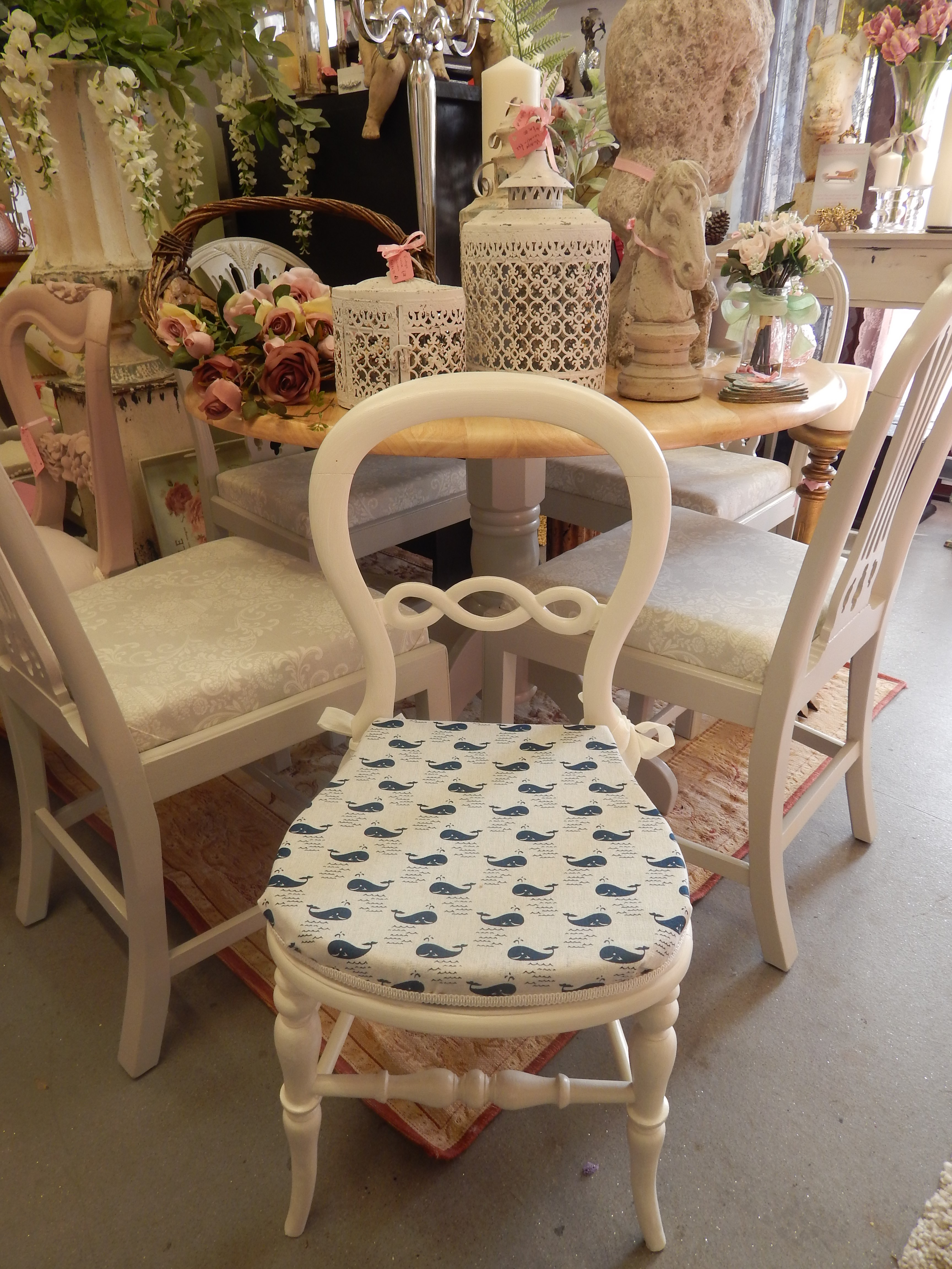 Lovely Vintage Balloon Back Bathroom Chair
